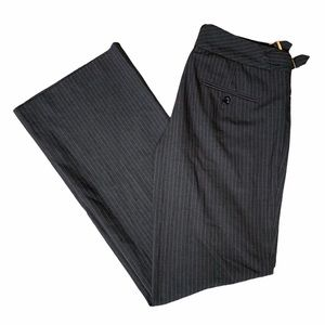 EXPRESS editor dress pants with pink pinstripes